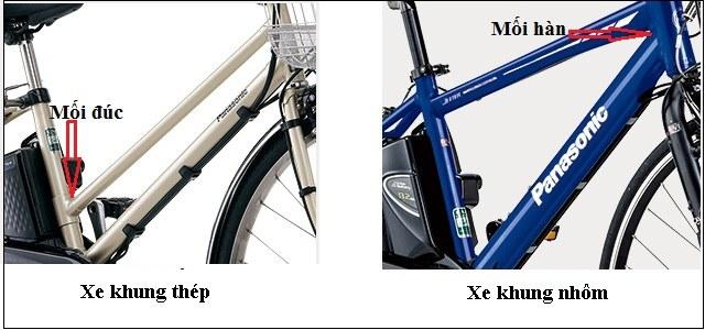 nhận biết chất liệu khung xe đạp