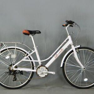 Xe đạp mini nữ Battle trắng
